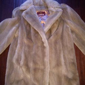 Womens Vintage 80's Jordache Faux Fur Thick Coat